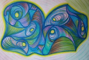 Дракон дыщащий любовью, картина Галины Вагиной